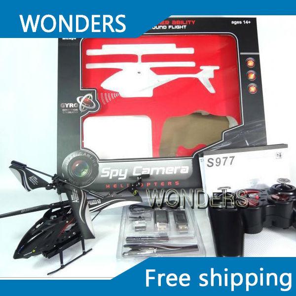 Wl S977 3.5 CH Radio Control remoto de Metal girocompás rc helicóptero con la cámara y Gyro