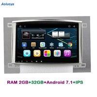 Aoluoya ips 2 Гб Оперативная память 32 ГБ Встроенная память автомобильный dvd плеер на основе Android для Toyota Land cruiser 100 LC100 Lexus IX470 радио gps навигации Bluetooth