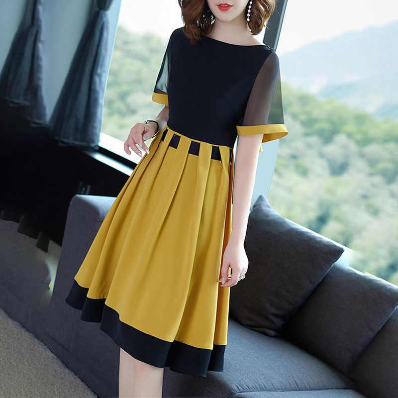 bd78891205bc706 ... Bohoartist/летнее женское платье с цветным блоком, с коротким рукавом,  в стиле пэчворк ...