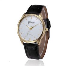2017 Relogio Feminino erkek kol saati Retro Design Leather Band Analog Alloy Quartz Wrist Watch #June2