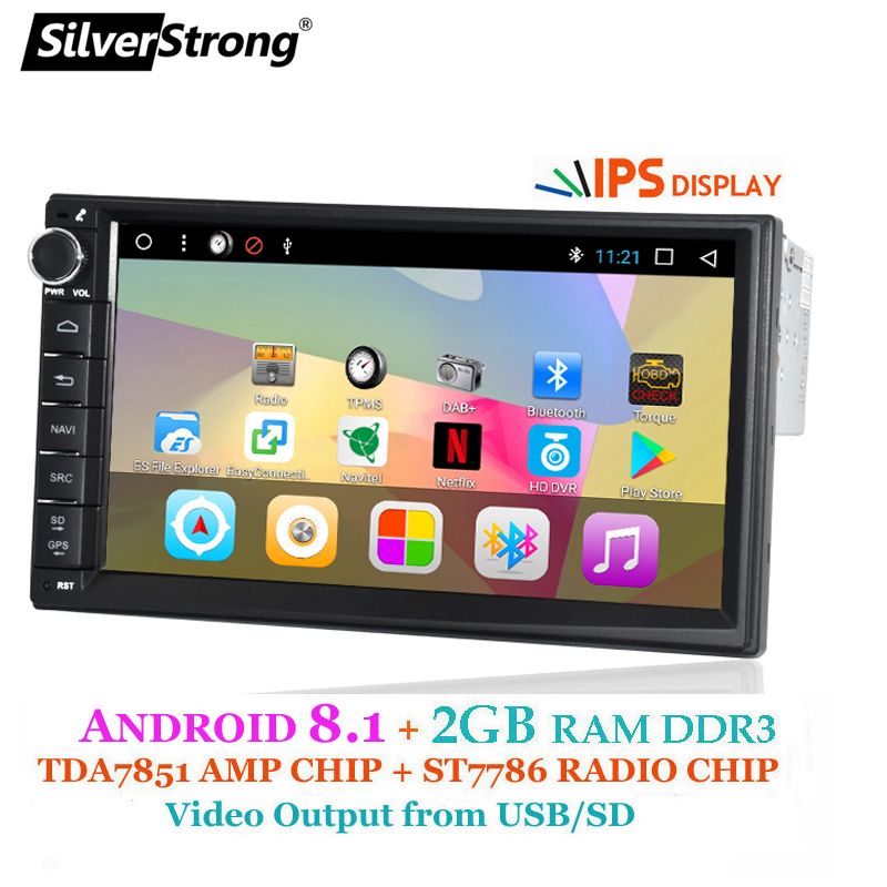 SilverStrong Android 1Din 7 Universal Car dvd Radio Multimedia Bluetooth GPS Navigation Car Stereo MirrorLink FM