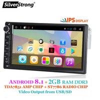 SilverStrong Android 1Din 7 Универсальный Автомобильный dvd радио Мультимедиа Bluetooth gps Навигация стерео MirrorLink FM 707T3 1din 2g