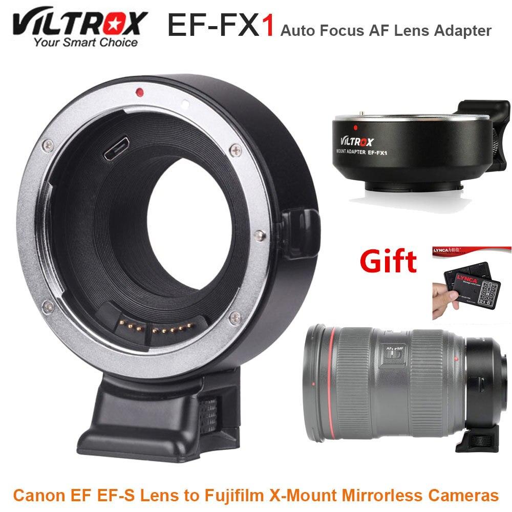 VILTROX EF-FX1 Mise Au Point Automatique AF Lens Adapter Converter pour Canon EF EF-S Lens pour Fujifilm X-Mount Mirrorless Caméras