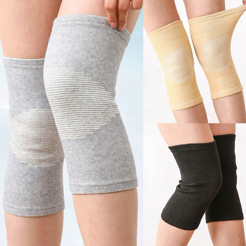 Unisex Knee Support Sleeves Bamboo Charcoal Fabric Sports Compression Warm Brace Anti-Slip Wrap Pads Joint Pain Injury Recovery