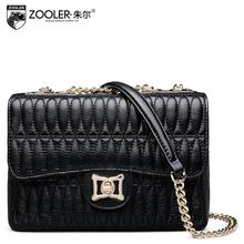 ZOOLER brand women bag 2016 new genuine leather bag high quality fashion sheepskin chains women leather  shoulder messenger bag