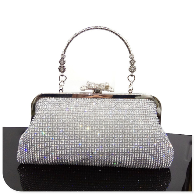 Women Crystal Evening Clutch Bag Rhinestone Wedding Purse Party Handbag  Lady clutches Diamond Pearl Beads Female 1eb493be952c