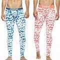 La Moda de los hombres Pantalones de Pijamas de Los Hombres Flacos Pantalones Sexy Ropa Interior Para Hombre Pantalones de Largo Pijama Pijama Algodón Sous Vetement Homme Homme