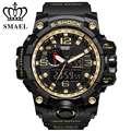 Man Watches S-SHOCK Series Of Gold Jungle Luxury style Outdoor Sports Mens Dual Display Electronics  Watch SMAEL 1545