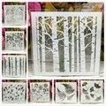 8 teile/satz 13 cm Baum Blatt Gingko DIY Schichtung Schablonen Malerei Sammelalbum Färbung Präge Album Dekorative Karte Vorlage| |   -