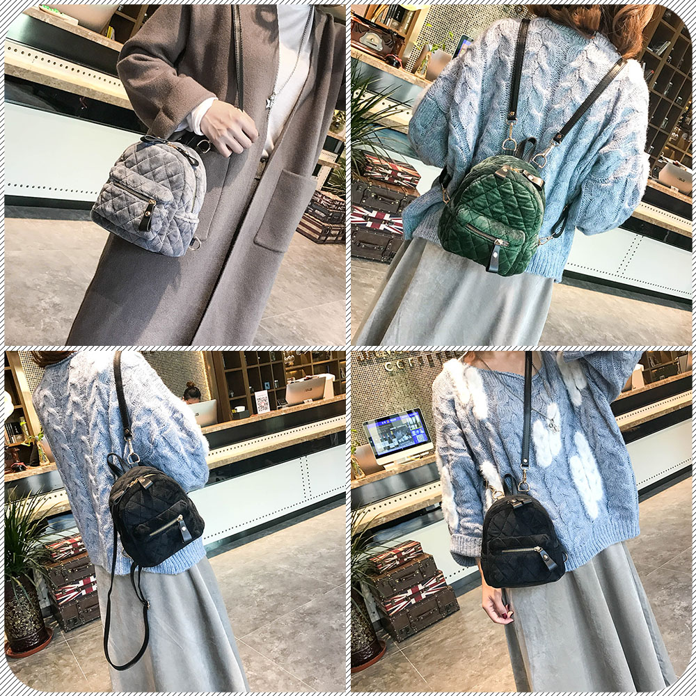 c67adab065 Amarte 2017 New Luxury Brand Women Velour Backpacks Small Backpacks for Girls  Fashion Casual Mini Backpack Daypacks Ladies Bags-in Backpacks from Luggage  ...
