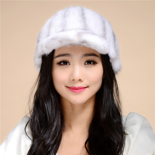 2016 new autumn and winter mink leather hat children winter warm hat dome cap free shipping/4Color.#SD7