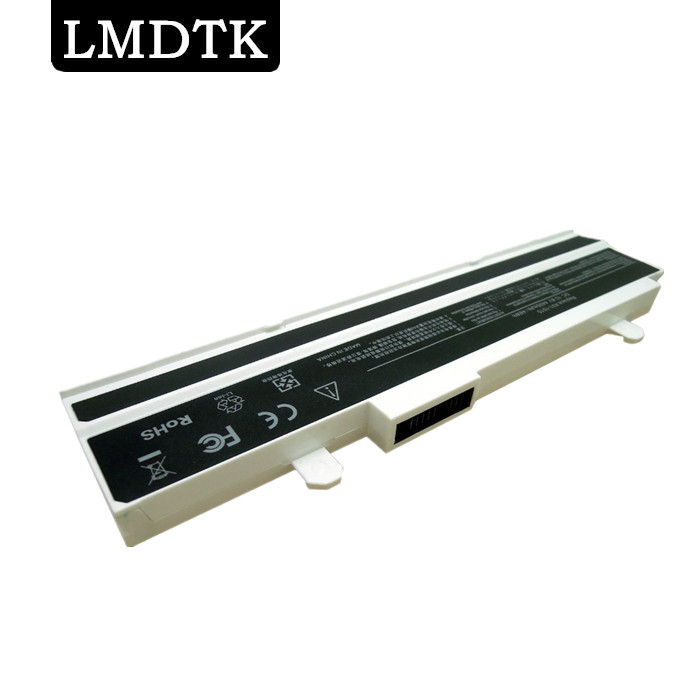 LMDTK New white 6 cells Laptop battery For Asus Eee PC 1015 1015B 1015P 1016 1016P 1016PE A31-1015 A32-1015