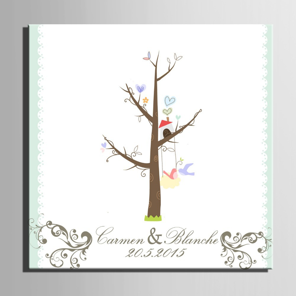 Festive & Party Supplies Personalize Wedding Fingerprint Tree Car Balloon Souvenirs Guest Book Diy Signature Canvas Painting For Wedding Party Fragrant Aroma