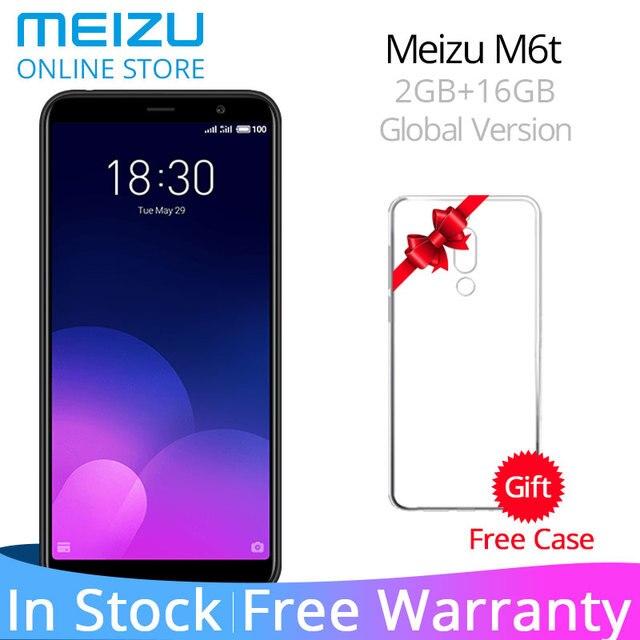 """Официальный Глобальный Версия Meizu M6T 6 T 2 GB 16 GB M811H мобильного телефона MTK6750 Octa Core 5,7 """"18:9 Экран двойной сзади Камера отпечатков пальцев"""
