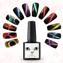 Coscelia Kuku Gel Polandia 3D Chameleon Cat Eyes 10 Ml Kuku Seni Polandia Semi Permanent Magnetic Nail Polish Curing UV lampu LED(China)