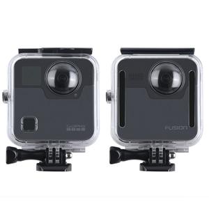 Image 5 - 40 M مثبت مضاد للماء حالة الباب الخلفي ل Gopro الانصهار 360 كاميرا تحت الماء مربع ل الذهاب برو الانصهار عمل كاميرا الملحقات