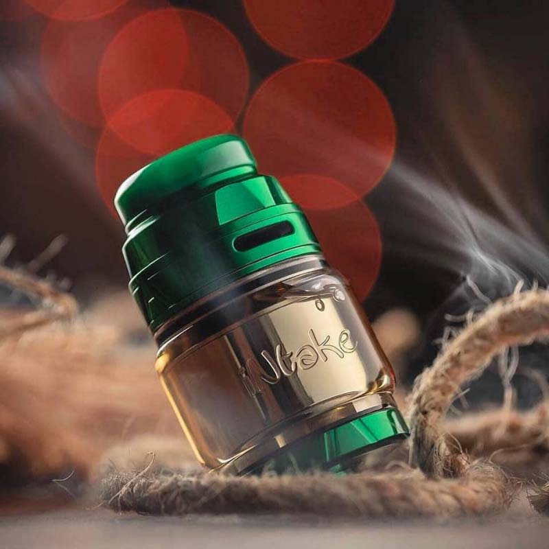 Augvape INTAKE RTA tank 4.2ml 24mm Single Coil Max Juice Capacity Leak Proof 510 thread electronic cigarette atomizers RTA