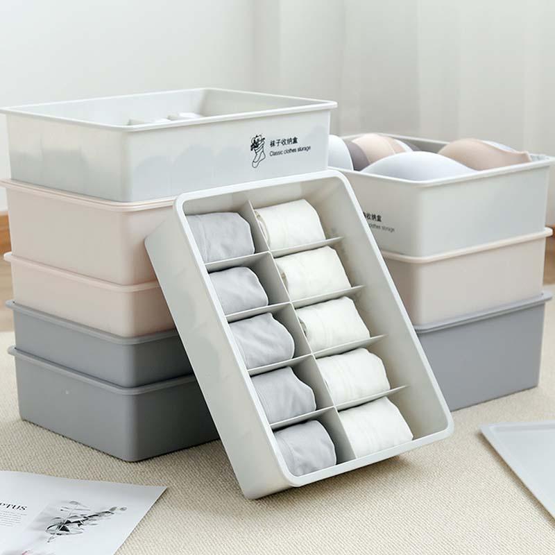 Ящик для хранения шкафа Органайзер 15 сеток Носки Бюстгальтер Нижнее белье Органайзер шкаф для дома пластиковые коробки настольный шкаф пластиковая коробка|Ящики и баки для хранения|   | АлиЭкспресс