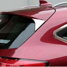 For Honda Vezel HR-V HRV 2014-2018 ABS Chrome Rear Trunk Window Spoiler Cover Pillar Post Trim Molding Garnish Car Styling 2pcs chrome rear trunk molding trim cover for honda fit jazz 2009 2010 2011 2012