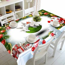 Meijuner New Year Christmas Tablecloth Kitchen Dining Table Decorations  Home Rectangular Party Covers Ornaments