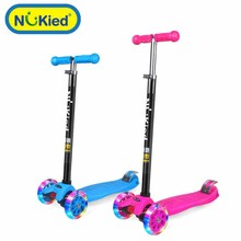 2017 Children Scooter 3 Wheel Folding Flash Swing Car Lifting 3-15 Years Old Baby Stroller Ride Bike Vehicle Outdoor Toys