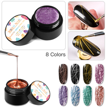 цены RBAN NAIL 5ml Wire Drawing Nail Gel Lacquer Painting Gel Varnish Pulling Silk Spider Creative Nail Art Gel Nail Polish 20 Colors