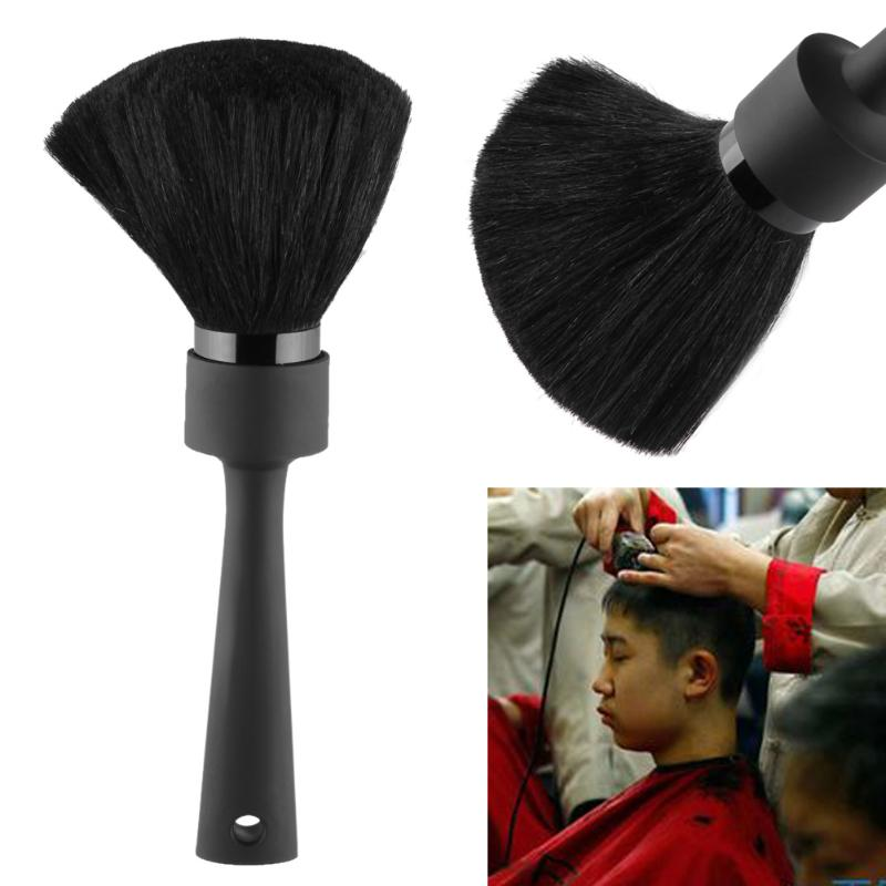 Black Soft Shaving Brush Salon Home Hair Cutting Haircut Hairdressing Face Neck Hair Sweep Brush Beard Moustache Shaving Brushes
