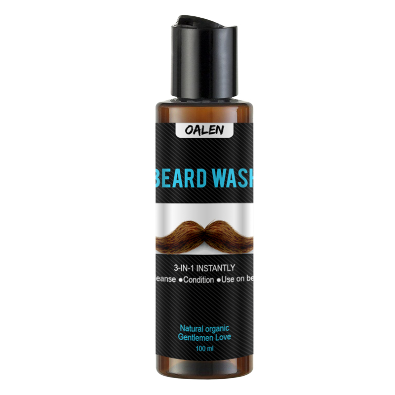 Beard Wash Men's Beard Shampoo Deep Cleansing Nourishing Beard Cleanser Repair Conditioner Keep Beard Shaping Growth Liquid 4
