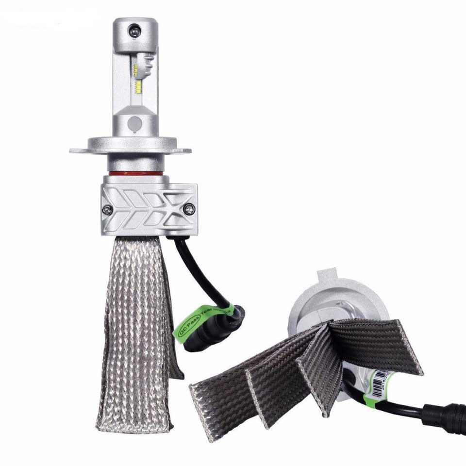 2PCS H4 H7 H11 Car LED Headlight Kit DRL Driving Lamp H4 H7 H8 H9 H11 H13 9005 9006 9007 9012 50W 8000LM 6500K Fog Light Plug