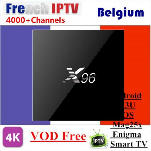 X96 с 1 год IPTV французский Бельгии IPTV коробка арабский IPTV коробка Linux Системы IPTV поле Декодер каналов кабельного телевидения MAG254 лучше, чем выб...