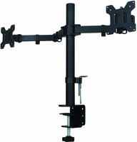 Fully Adjustable Dual Arm LCD LED Monitor Desk Mount Stand Bracket for 13 27 Screens with 15 degree Tilt