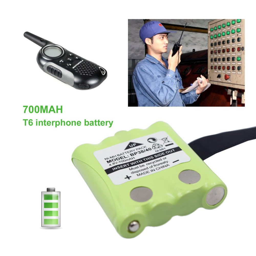 Hot Sale 4.8V 700mAh NI-MH Battery Replacement Walkie-talkie Battery Suitable For Uniden For MOTOROLA TLKR T4 T5 T6 T7 T8