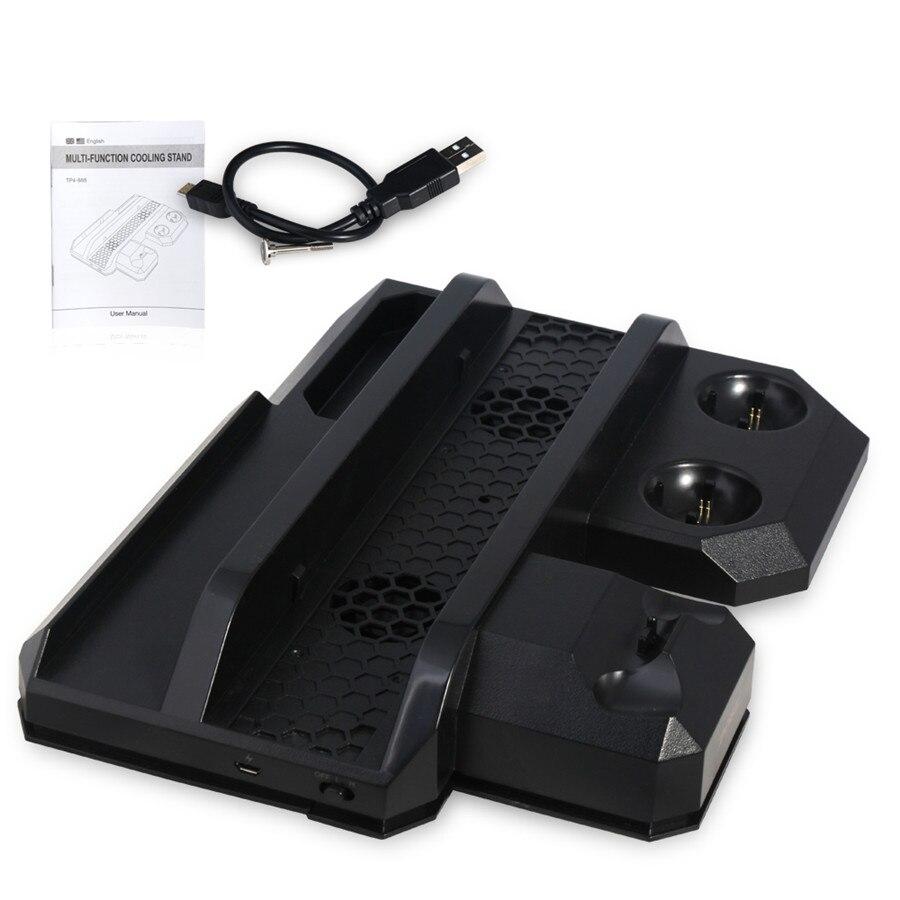 Pour PS4 Pro & PS4 Slim & PS4 Multifonctionnel Vertical De Refroidissement Stand, PS Move & PS4 Contrôleur Chargeur Station & PS VR Showcase Stand
