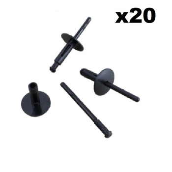 FOR BMW E90 E91 Z4 E85 E86 X3 X5 X6 BUMPER SKIRT SILL RIVET CLIPS x20 Plastic NEW REPAIR SET OE 51717002953 image