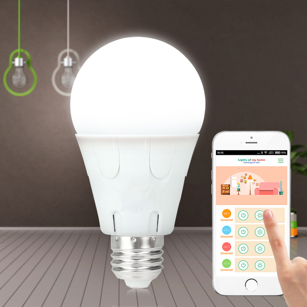 Smart Bulb E27 7W LED Bulb Energy Saving Lamp Color Changeable Smart Bulb Led Lighting For iPhone Android Home Bedroom Lighitng enwye e14 led candle energy crystal lamp saving lamp light bulb home lighting decoration led lamp 5w 7w 220v 230v 240v smd2835