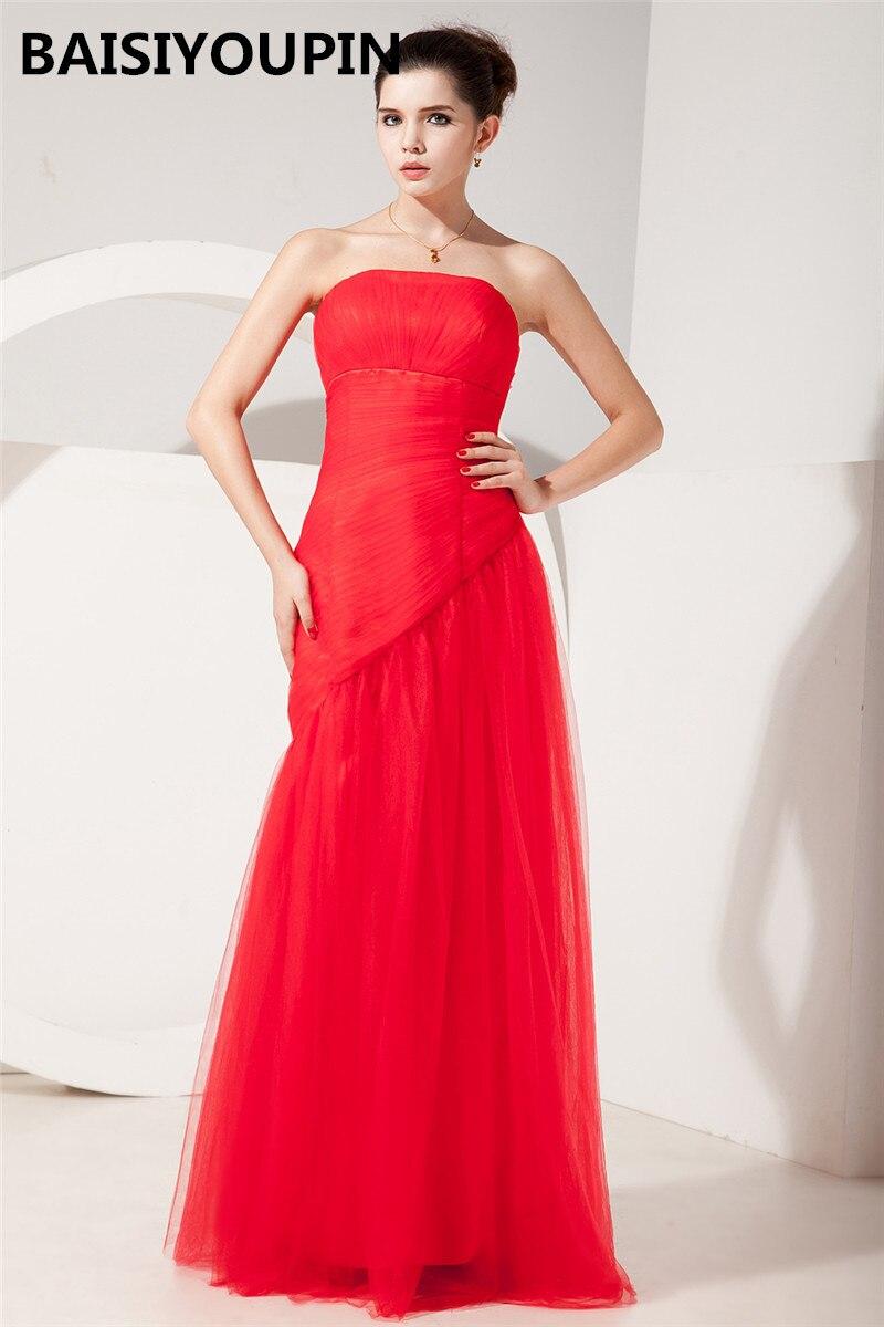 Mère marié longues robes Vestido Para Madrinha De Casamento 2019 pas cher rouge sirène robes De soirée