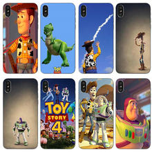 Toy Story 4 Buzz Woody Case untuk iPhone X XR X Max Case Lembut Tpu Ponsel Case Tas untuk iPhone 10 7 6 6 S PLUS 5 5 S Coque Shell(China)