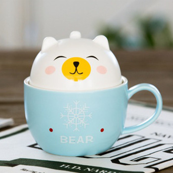 Cute Ceramic animal cups ,a cup has many uses,to drink coffee,milk and other beverage,a cup can be divided into two fuchs tasse