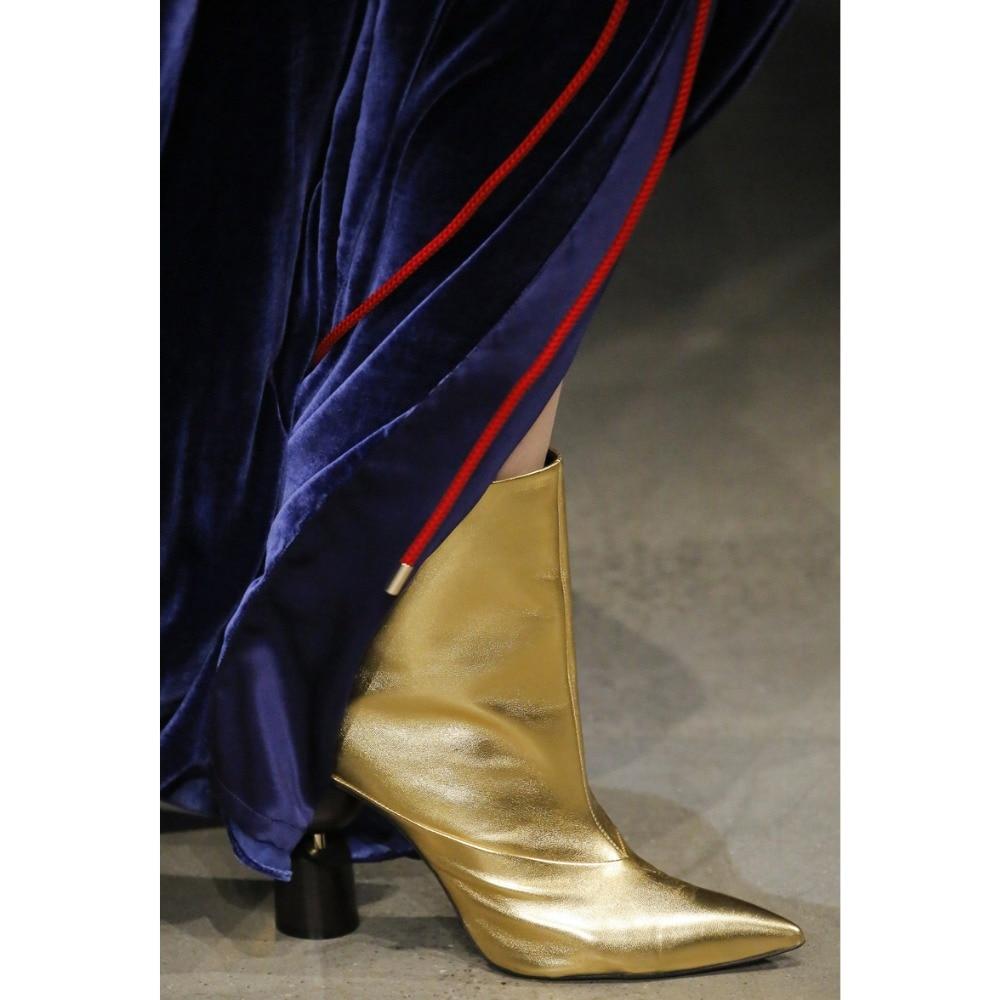 gris Bout Bottes 2019 Pointu Talons Haute Femmes Dipsloot Marque Dernière Femme Étrange pourpre Style La Designer Noir Piste blanc Robe Slip on Cheville or w4qqOnP1