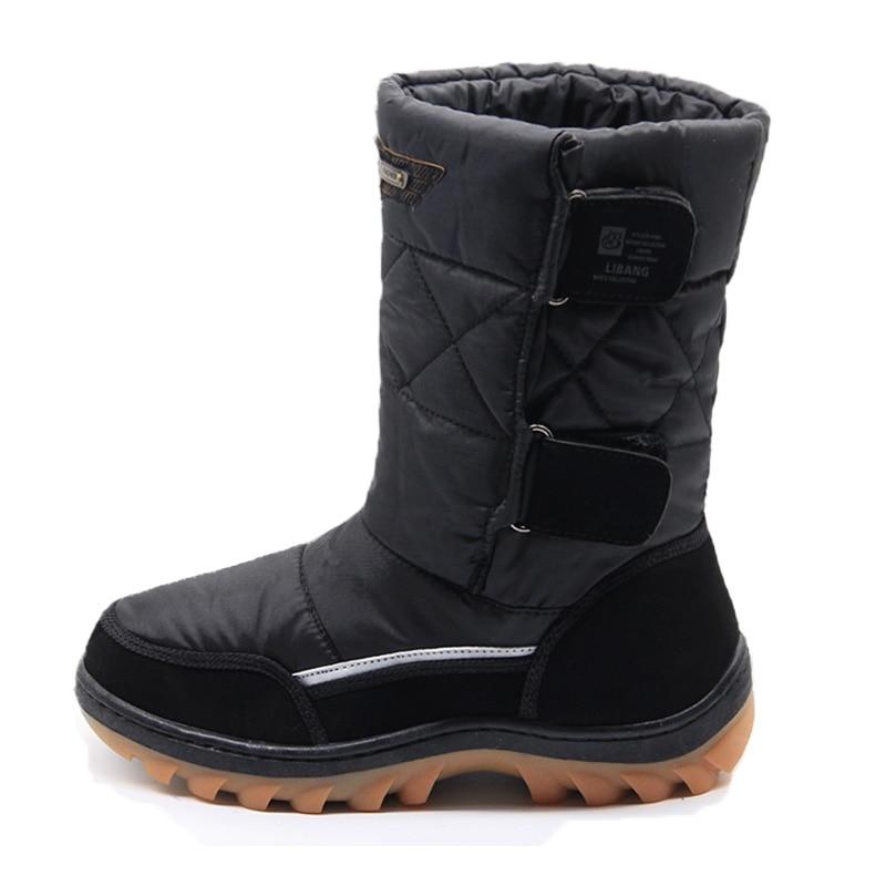 Купить LIBANG 2018 брендовая мужская зимняя обувь, теплые мужские зимние  ботинки, зимние ботинки, зимняя обувь для мужчин, модная мягкая мужская  обувь, б. aebd3d0c841