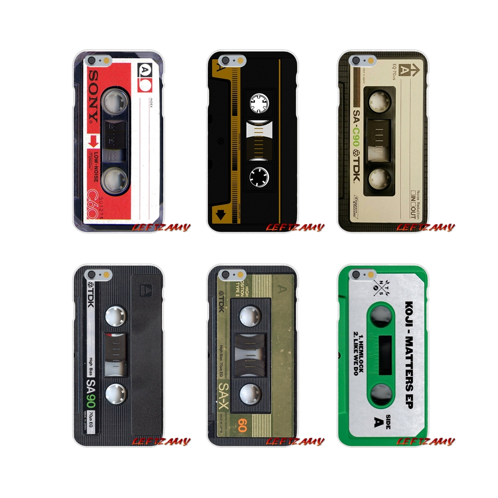 Silicone Cover Bag For iPhone X XR XS MAX 4 4S 5 5S 5C SE 6 6S 7 8 Plus ipod touch 5 6 vintage Magnetic tape Cassette audio tape
