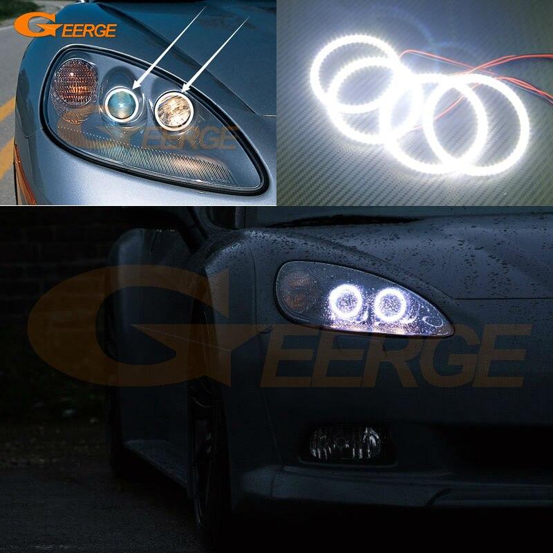 Для Шевроле Корвет С6 2005-2013 отличная глаза ангела Ультра яркое освещение Сид SMD глаза Ангела гало кольцо комплект