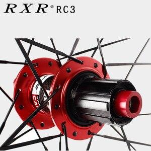 Image 2 - 2020 MTB Mountain Bike Carbon fiber drum 26er 27.5er 29er Six Holes Disc Brake bicycle Wheel 7/11 Speed Alloy Rim Wheelset