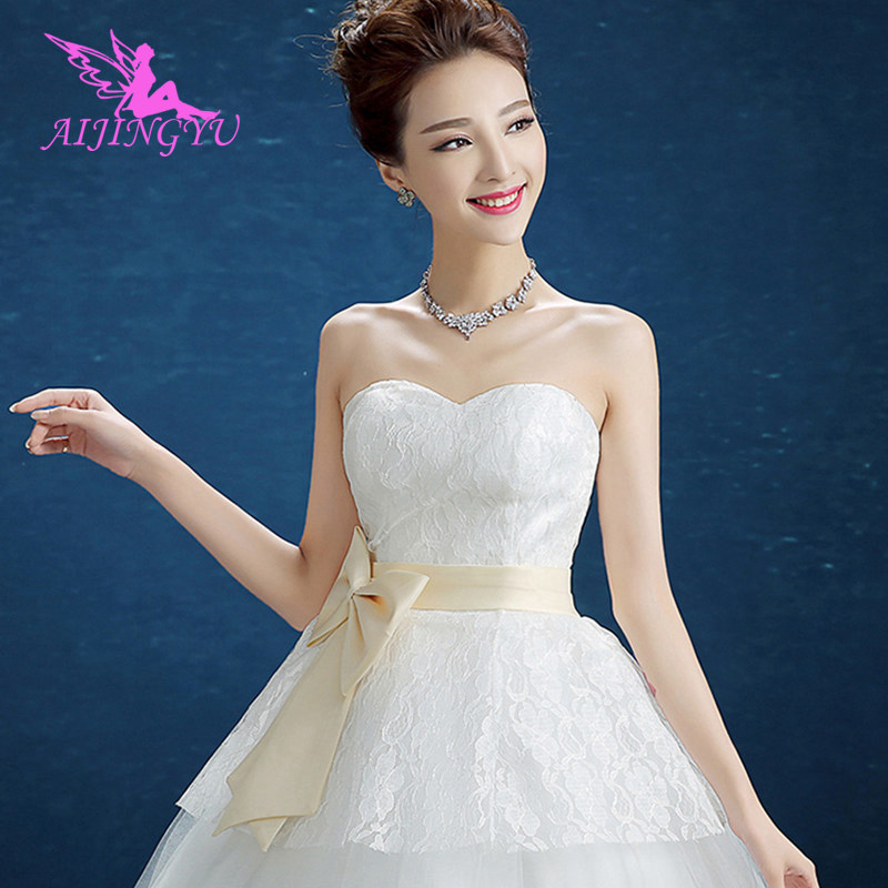 AIJINGYU 2018 plus size free shipping new hot selling cheap ball gown lace up back formal bride dresses wedding dress FU269
