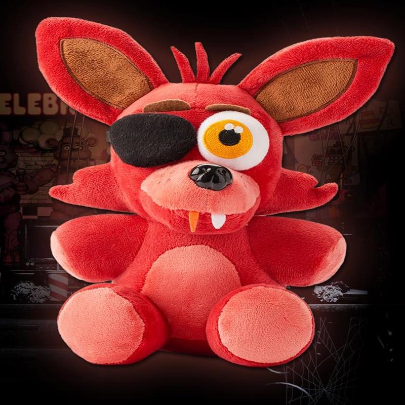 Panas! Lima Malam Di Freddy's 4 Plush Doll Foxy 10''Bonnie / Chica / Freddy Plush Toys Hadiah Krismas Kanak-Kanak