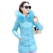 TYJTJY 2018 New Winter Jacket Women Coats Big Fur Hooded Womens Jacket Fashion Female Long Down Cotton Padded Coat Parka цена