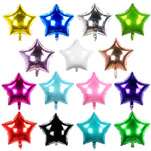 5 pcs/lot 18 Inch/ 45*45CM Foil Star Balloon mixed heart ballon - Helium Metallic globos for Wedding/birthday supplies