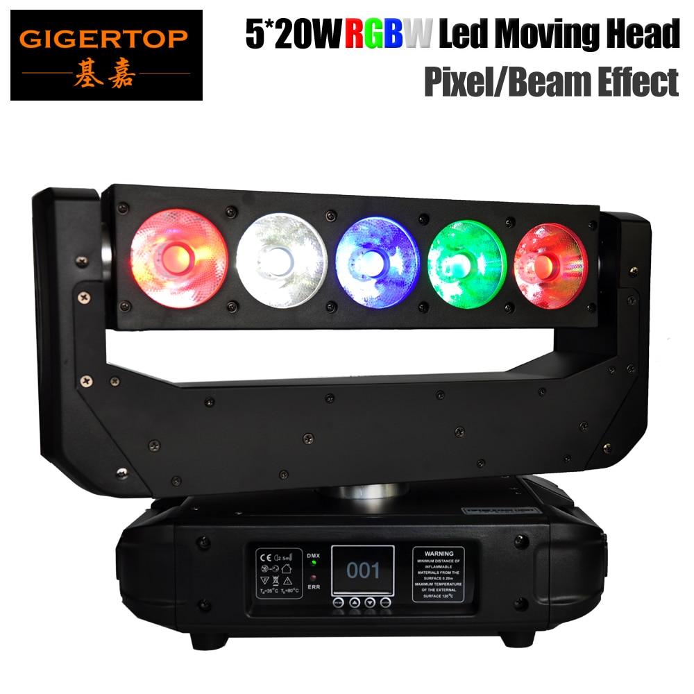 TIPTOP сценический свет 5 Вт светодио дный 20 светодиодный движущаяся головка луч света Ultimate Tilt Y движение RGBW 4в1 цветной пиксель управление 16/32 DMX