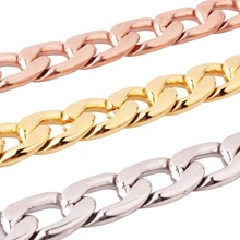 11/13/15/19MM Men/Women Silver/Gold/Rose Gold 1:1 NK Cuban Curb Chain Necklace Or Bracelet Stainless Steel Fashion Jewelry 7-40