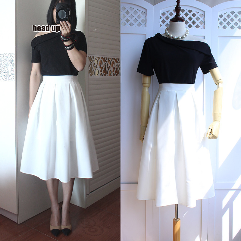 4 colours Sexy Women  high Waist Pleated skirt  lolita Casual Skirt elegant skirt big size bubble skirt